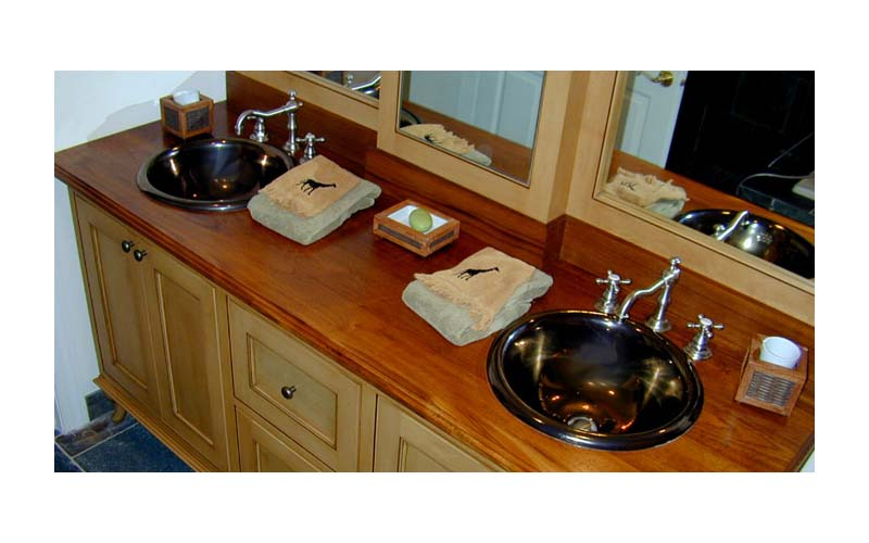 Wood bathroom vanity top