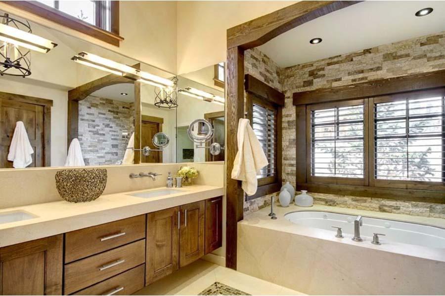 Wooden bathroom vanities
