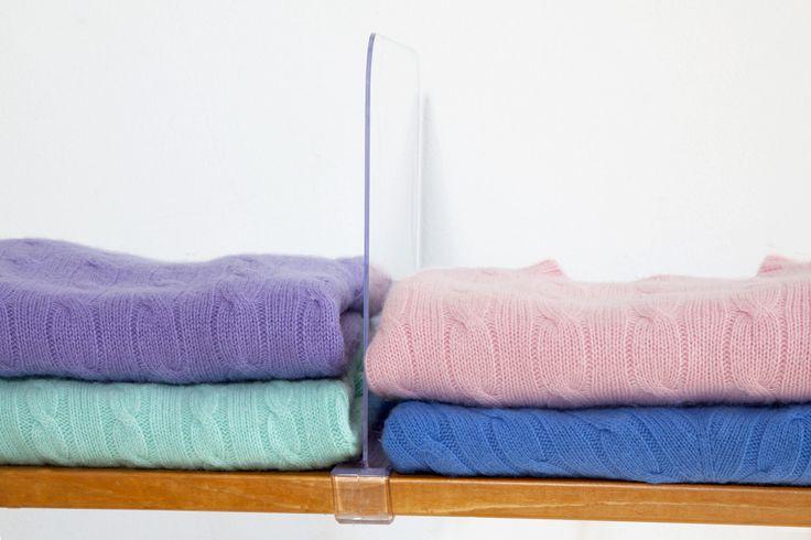 acrylic shelf dividers la closet design