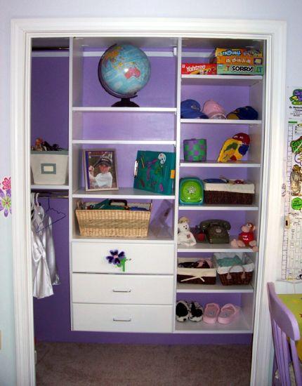 best reach in closet design