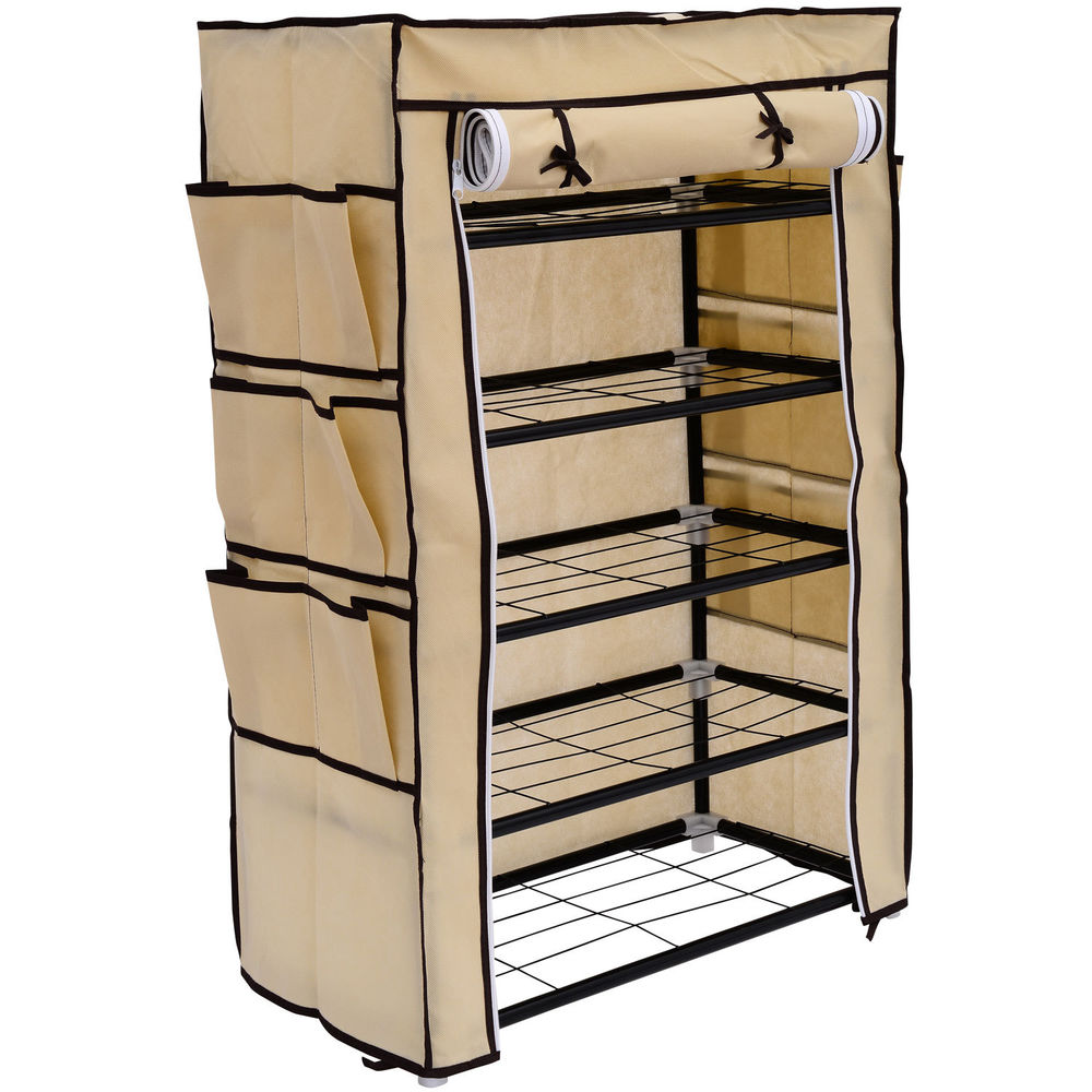closet organizer with shoe rack
