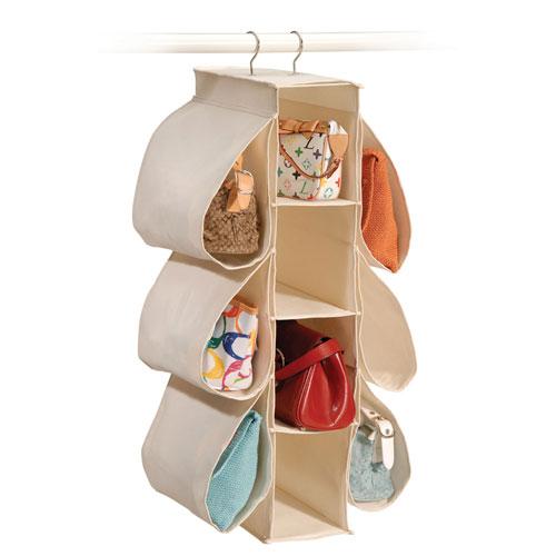 closet purse organizer hanging