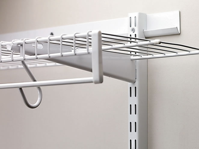 closet shelf bracket spacing