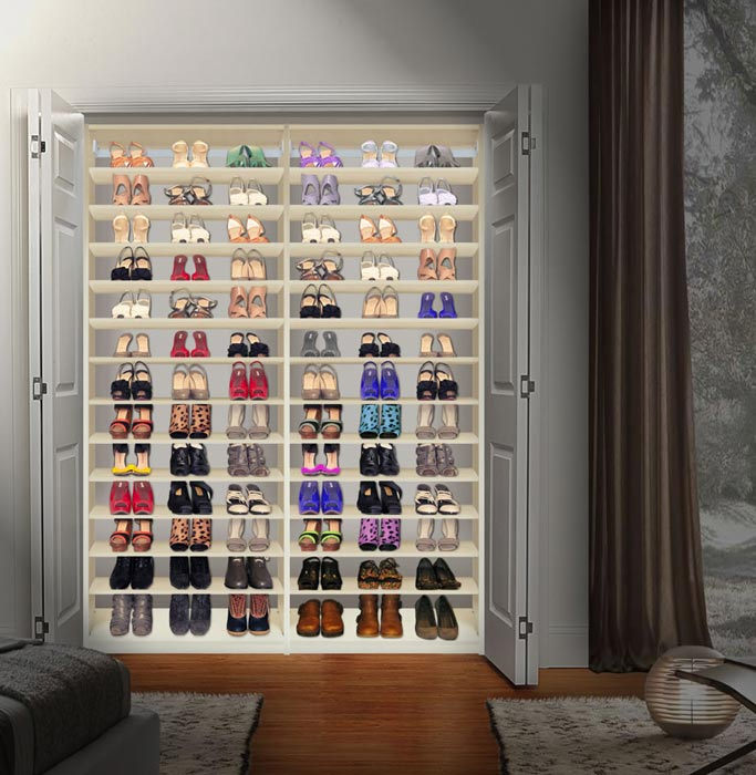 closet shoe storage units