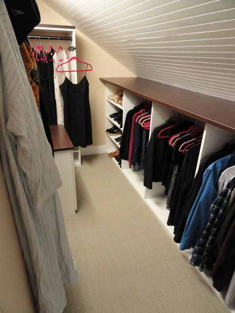 closet system for angled wall