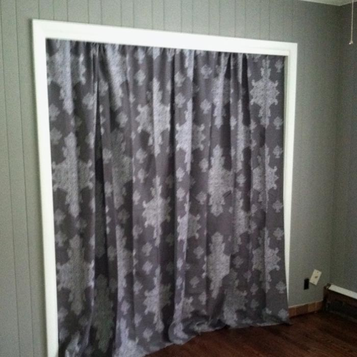 Hanging Curtains Instead Of Closet Doors Couch Amp Sofa