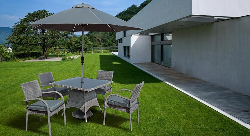 Grey Rattan Garden Furniture Sets