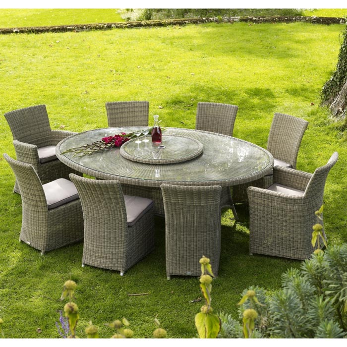 Rattan Garden Furniture 8 Seater