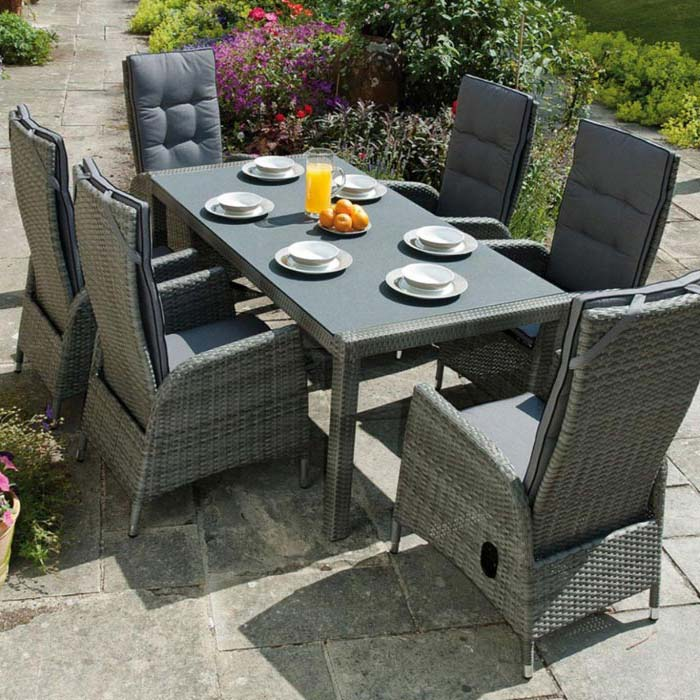 Rattan Garden Furniture Cube Dining Set