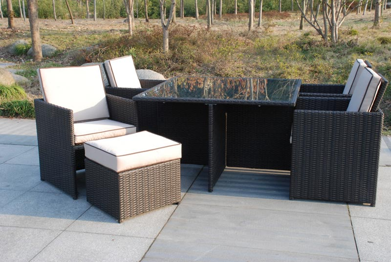 Rattan Garden Furniture Cube Sets