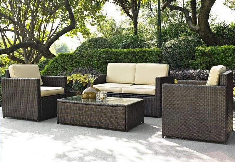 4 Piece Outdoor Wicker Furniture