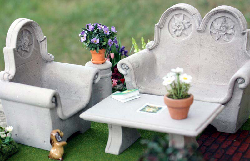 Miniature Garden Furniture Edinburgh