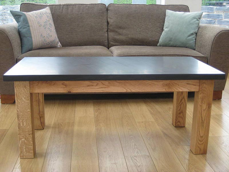 Oak And Slate Coffee Table