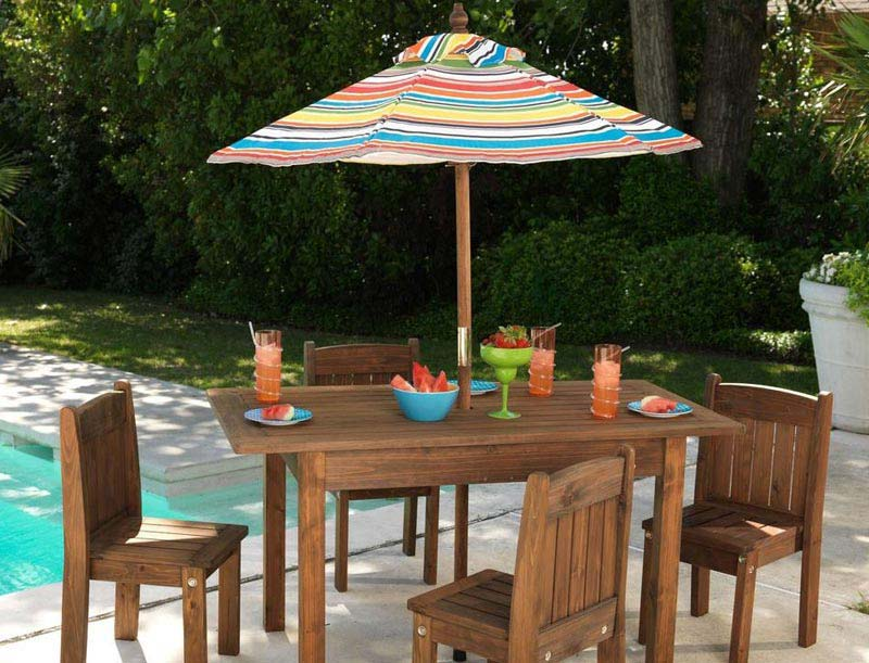 Patio Table And Chairs And Umbrella