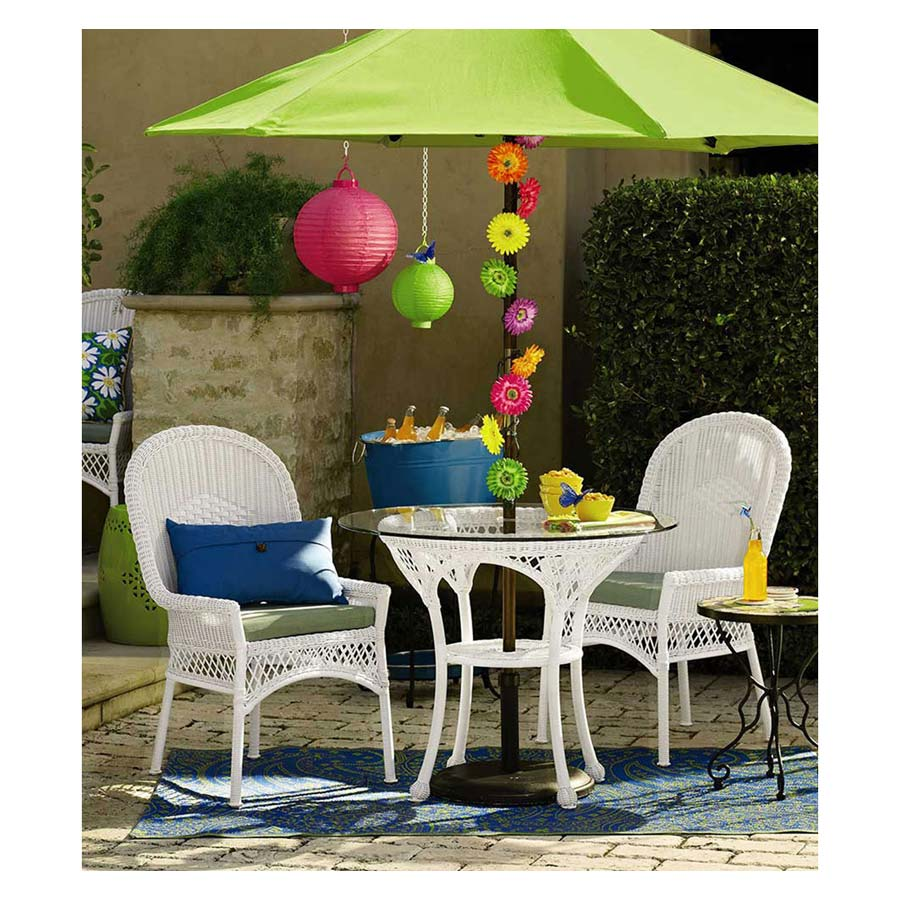 Rattan Patio Set With Umbrella