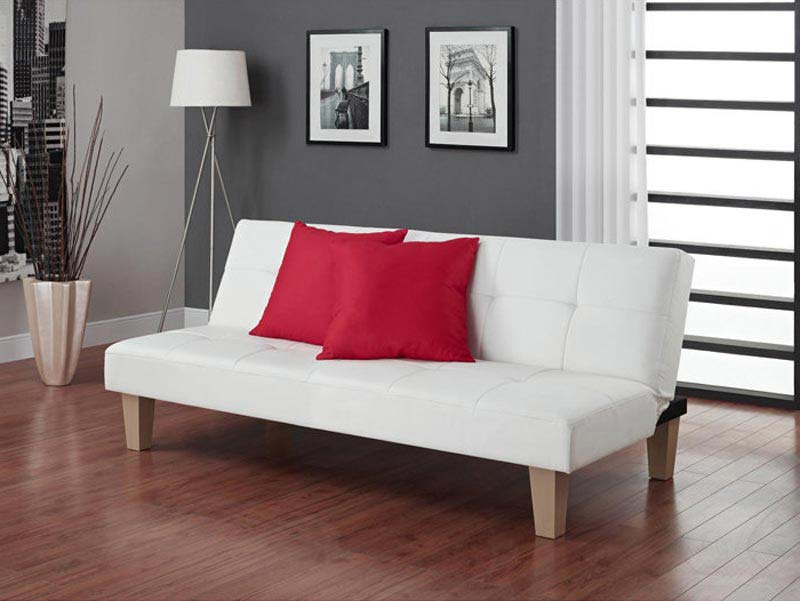 Aria Futon Sofa Bed White