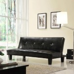 : Faux Leather Futon Sofa Bed