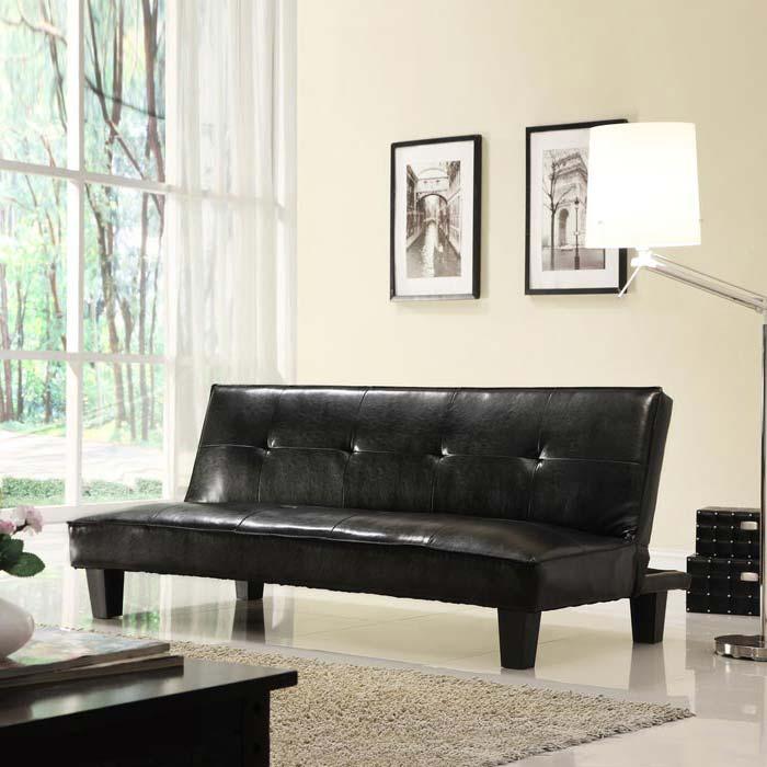 Faux Leather Futon Sofa Bed