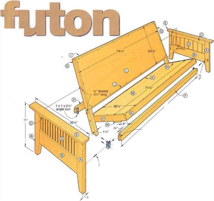 Futon Sofa Bed Plans