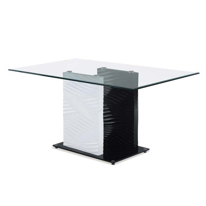Glass Pedestal Coffee Table