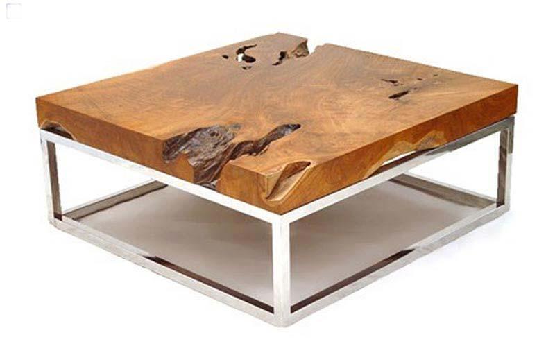Montebello Reclaimed Wood Pedestal Coffee Table