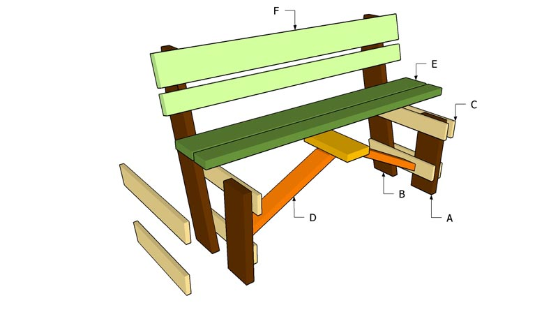 Outdoor Wooden Benches Woodworking Plans