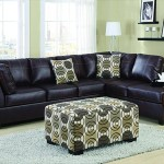 : 4 Piece Leather Sectional Sofa