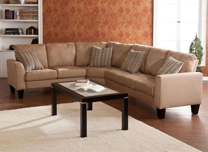 Ascot Mocha 4 Piece Sectional Sofa
