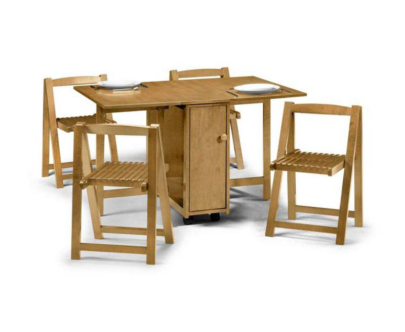 Butterfly Dining Table With 4 Folding Chairs