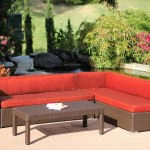 : Cadence Wicker 3 Piece Outdoor Sectional Sofa Set