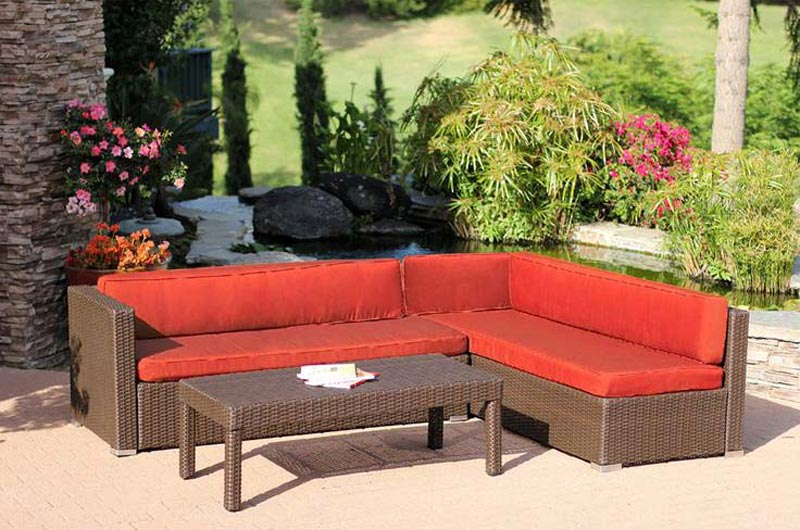Cadence Wicker 3 Piece Outdoor Sectional Sofa Set