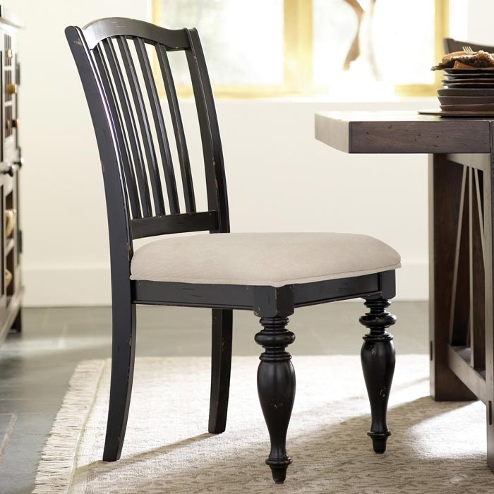 Distressed Black Dining Chairs