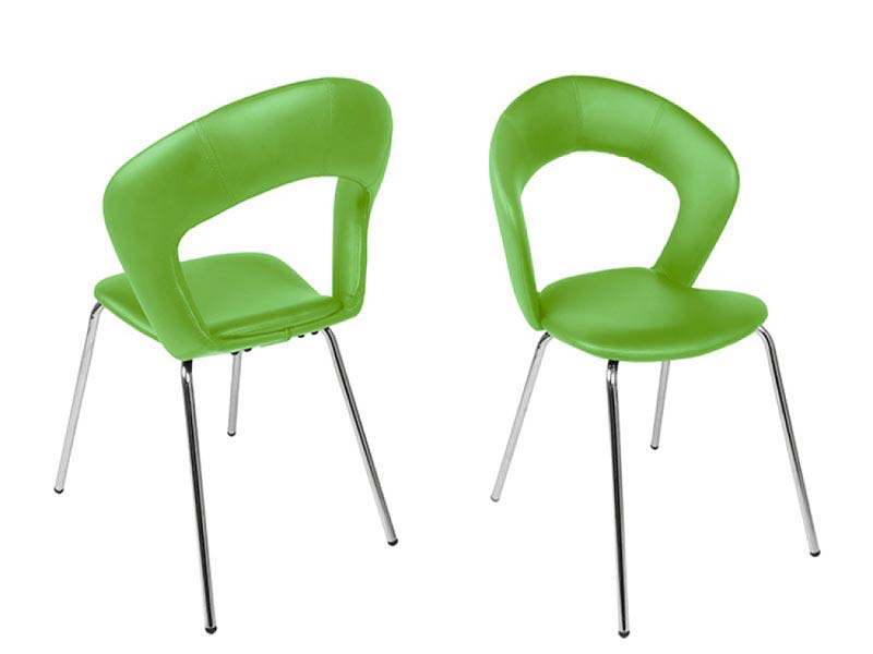 Green Leather Dining Chairs
