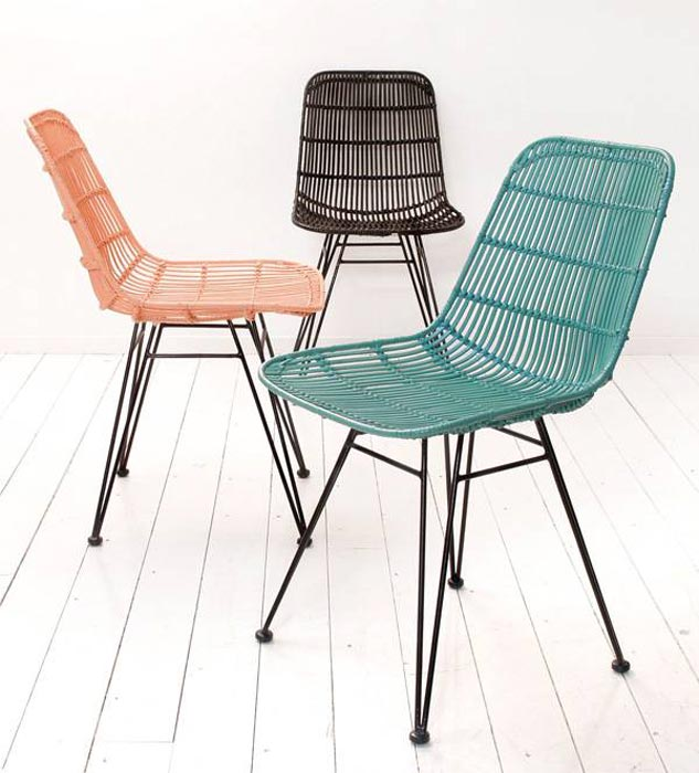 Hk Living Rattan Dining Chairs