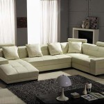 : Houston Ivory Leather 3 Piece Sectional Sofa Set