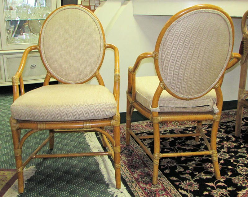 Mcguire Rattan Dining Chairs