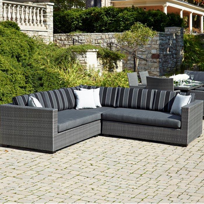 Monaco 4 Piece Sectional Sofa Set