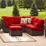 : Rushreed 3 Piece Outdoor Sectional Sofa Set Red Seats 5