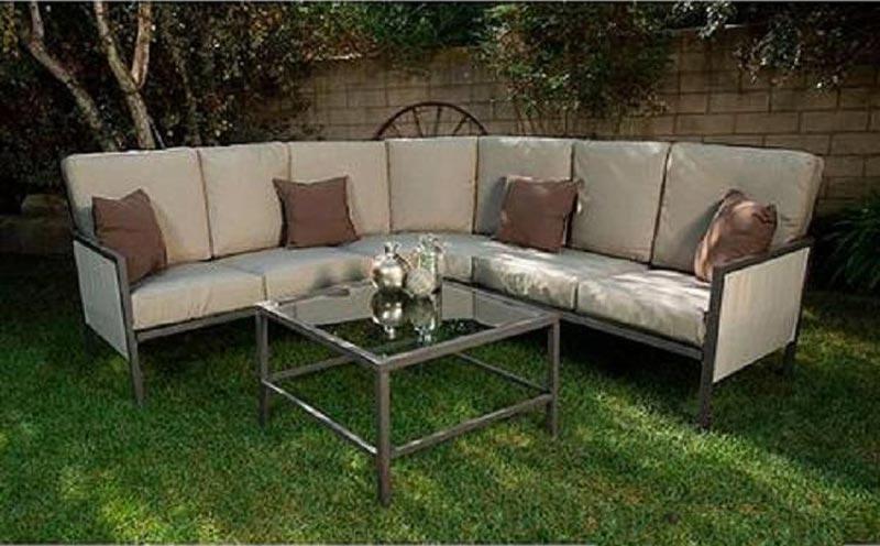 Soho 4 Piece Outdoor Sectional Sofa Seats 5