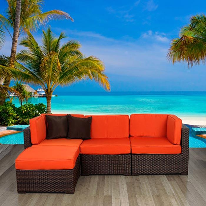 Soho 4 Piece Outdoor Sectional Sofa
