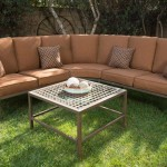 : Soho 4 Piece Woven Wicker Outdoor Sectional Sofa