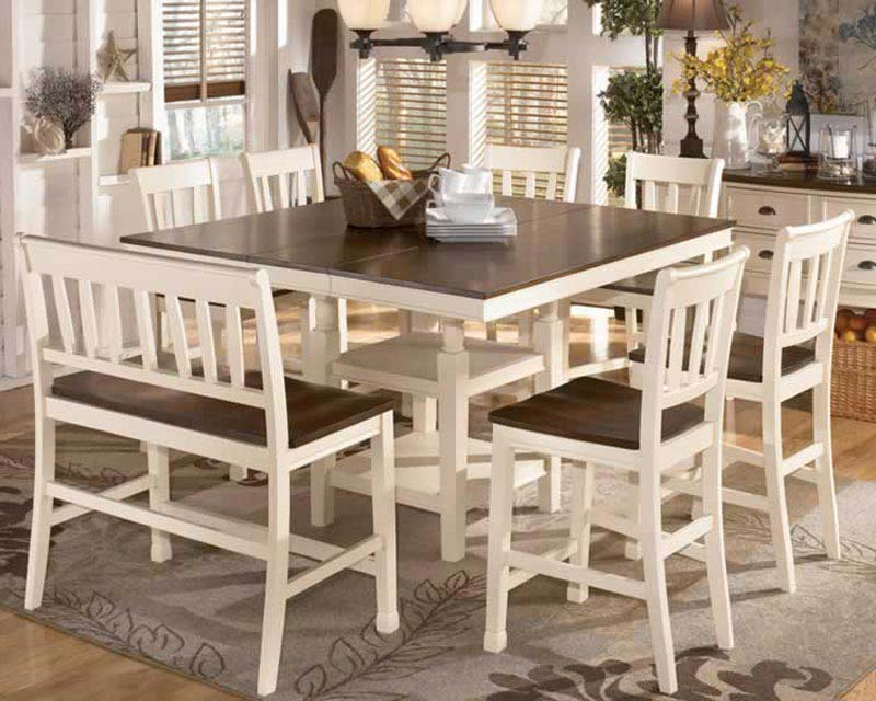White 8 Seater Dining Table And Chairs
