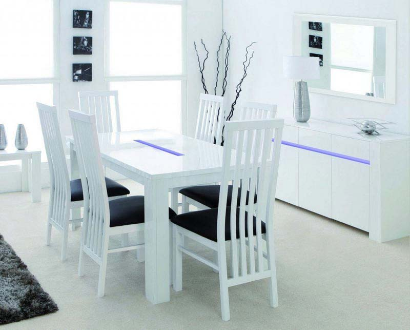 White Dining Table And Chairs