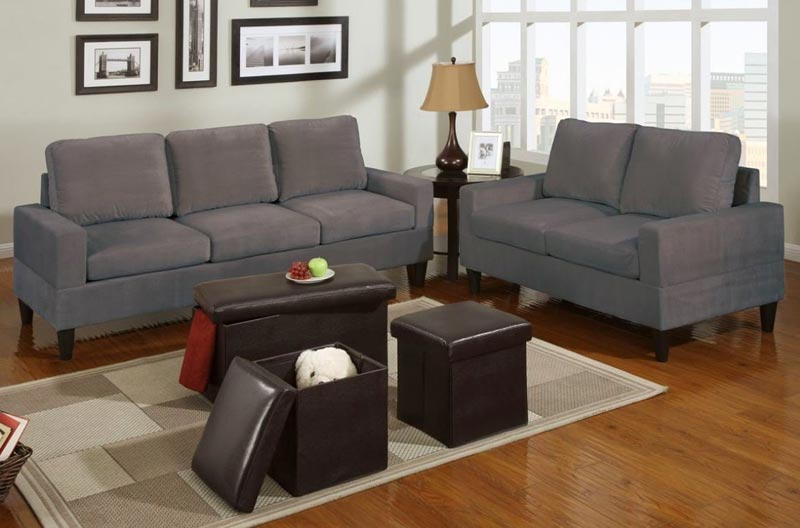 5 Piece Sectional Sofa Microfiber