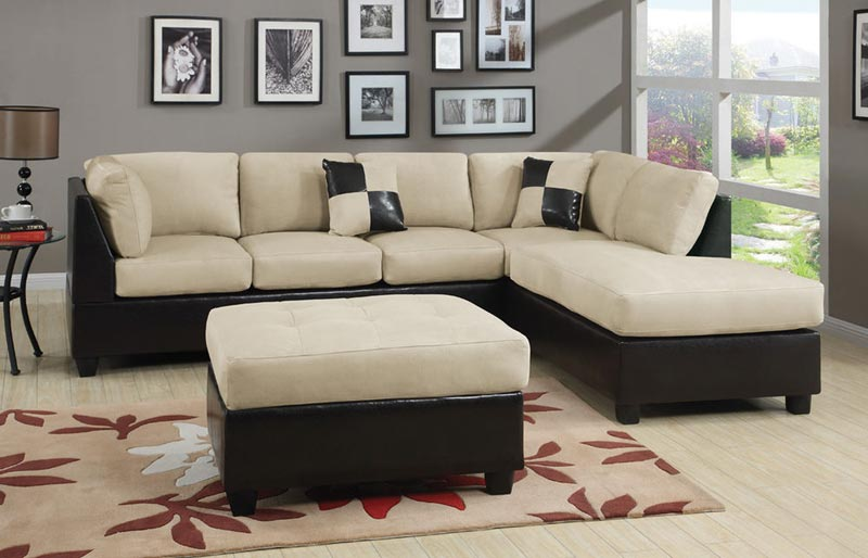 6 Piece Microfiber Sectional Sofa