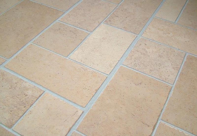 Beige Tile Effect Laminate Flooring