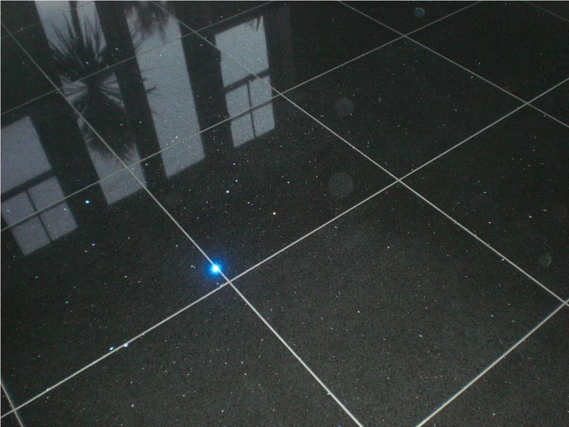 Black Sparkle Floor Tiles Have Your Own Starlight Sky At Home