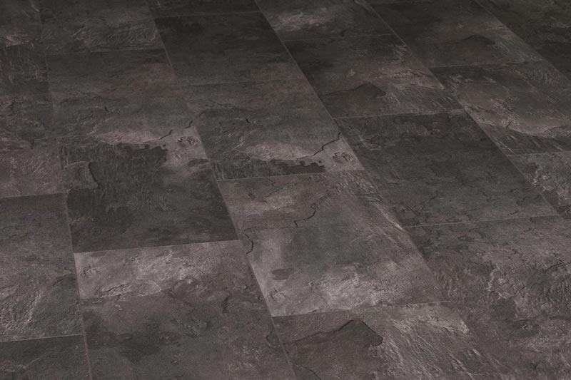 Black Slate Laminate Flooring Tile Effect