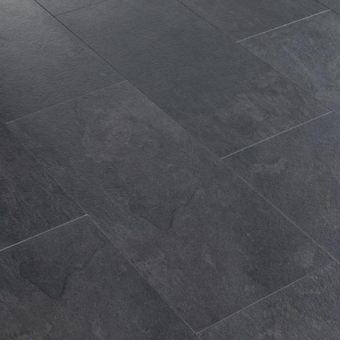 Black Slate Tile Effect Laminate Flooring For Sale Couch Sofa