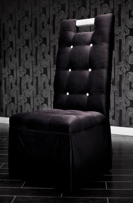 Black Velvet Tufted Dining Chairs